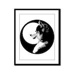 Siberian Husky Sled Dog Framed Panel Print