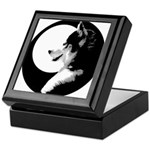 Siberian Husky Sled Dog Keepsake Box