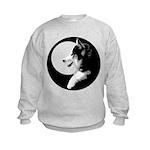 Siberian Husky Sled Dog Kids Sweatshirt