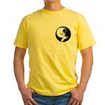 Siberian Husky Sled Dog Yellow T-Shirt