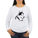 Siberian Husky Sled Dog Women's Long Sleeve T-Shir