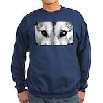 Siberian Husky Sled Dog Sweatshirt (dark)