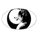 Siberian Husky Sled Dog Sticker (Oval)