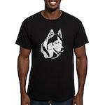 Siberian Husky Sled Dog Men's Fitted T-Shirt (dark