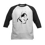 Siberian Husky Sled Dog Kids Baseball Jersey