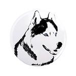 "Siberian Husky Sled Dog 3.5"" Button (100 pack)"