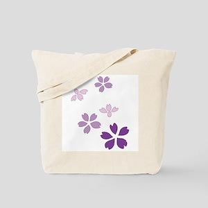 Scattered Cherry Blossoms Sak Tote Bag