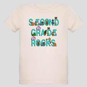 Second Grade Rocks Organic Kids T-Shirt