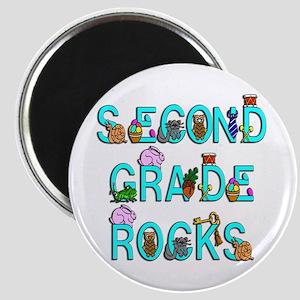 Second Grade Rocks Magnet