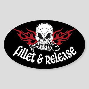 Fillet & Release Oval Sticker