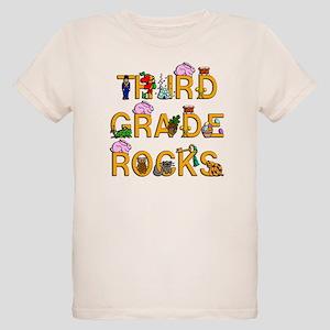 Third Grade Rocks Organic Kids T-Shirt