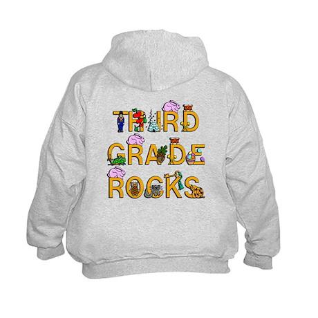 Third Grade Rocks Kids Hoodie