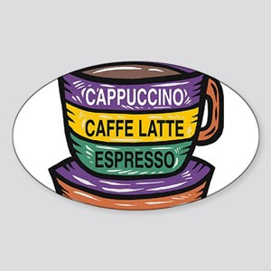 Cappacino Oval Sticker