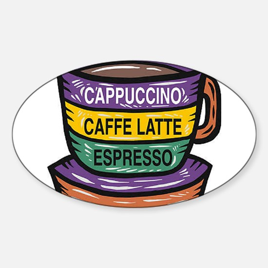 Cappacino Oval Decal