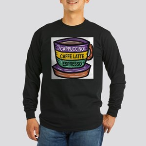 Cappacino Long Sleeve Dark T-Shirt