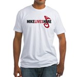 MIKE LIVES HERE Fitted T-Shirt