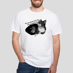 Cat Hate White T-Shirt
