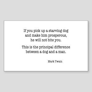 Mark Twain Rectangle Sticker
