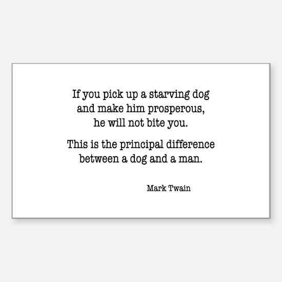 Mark Twain Rectangle Decal