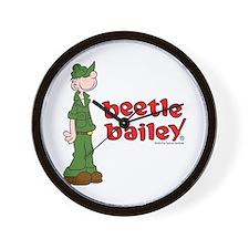 Beetle Bailey Logo Wall Clock