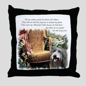 Bearded Collie Art Throw Pillow
