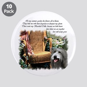 """Bearded Collie Art 3.5"""" Button (10 pack)"""