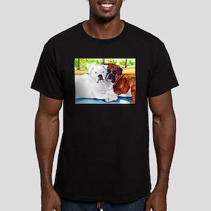 Krypta and Abbott Men's Fitted T-Shirt (dark)