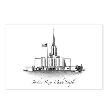Jordan River Utah Temple Postcards (Package of 8)