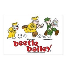 Otto, Sarge, and Beetle Chase Postcards (Package o
