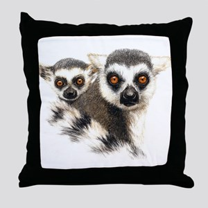 Lemurs Throw Pillow
