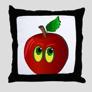 sad Apple Throw Pillow