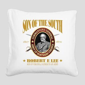 General Robert E Lee Square Canvas Pillow