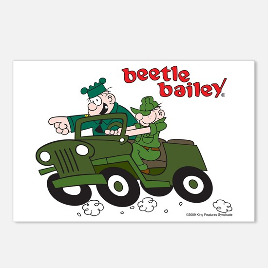 Beetle and Sarge in Jeep Postcards (Package of 8)