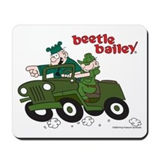 Beetle and Sarge in Jeep Mousepad