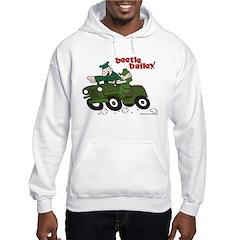 Beetle and Sarge in Jeep Hoodie