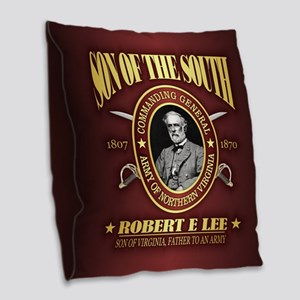 General Robert E Lee Burlap Throw Pillow