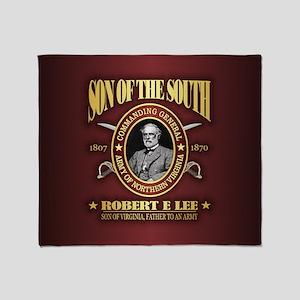 General Robert E Lee Throw Blanket
