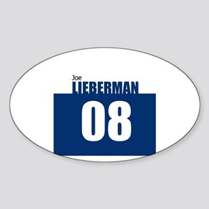 Lieberman 08 Oval Sticker