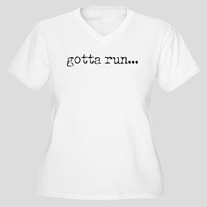 gotta run Women's Plus Size V-Neck T-Shirt