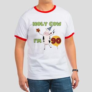 Cow 90th Birthday Ringer T