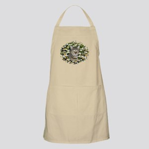 TABBY CAT IN FIELD OF DAISIES BBQ Apron