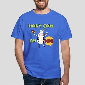 Cow 100th Birthday Dark T-Shirt