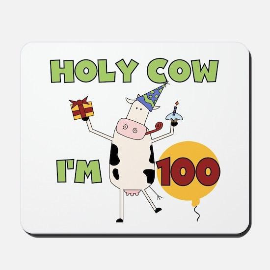 Cow 100th Birthday Mousepad