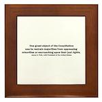 James K. Polk Quote Framed Tile