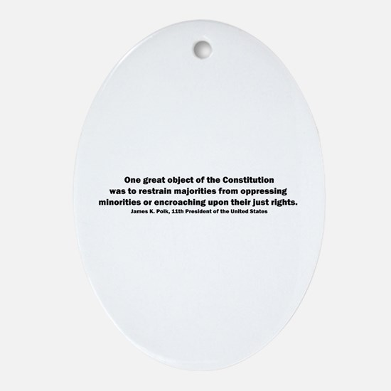 James K. Polk Quote Oval Ornament