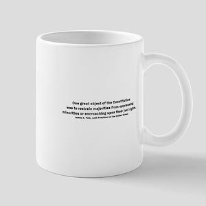 James K. Polk Quote Mug