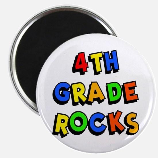 4th Grade Rocks Magnet