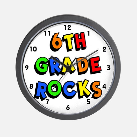 6th Grade Rocks Wall Clock
