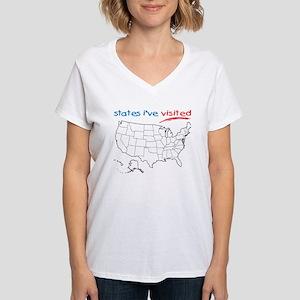 States I've Visited Women's V-Neck T-Shirt