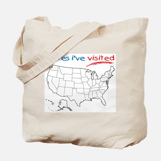 States I've Visited Tote Bag